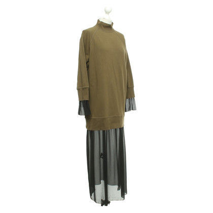 MM6 by Maison Margiela Oversized dress in khaki / black