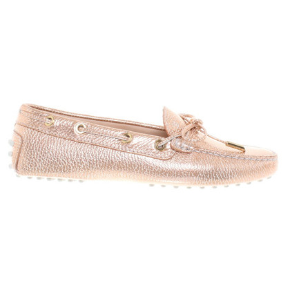 Tod's Rose gold colored slippers