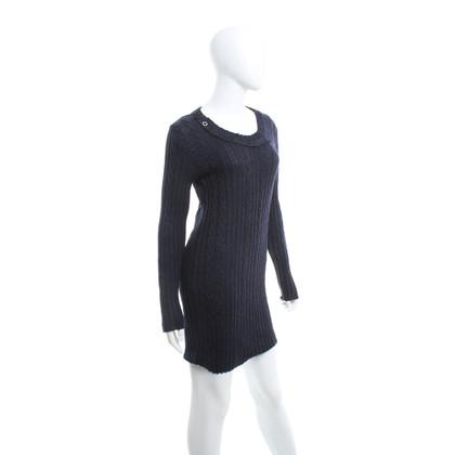Patrizia Pepe vestito lavorato a maglia in blu scuro