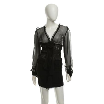 Dolce & Gabbana camicetta di seta in nero