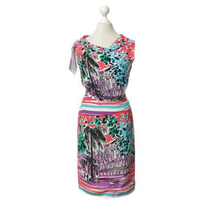 Alberta Ferretti zijden jurk met pittoreske print