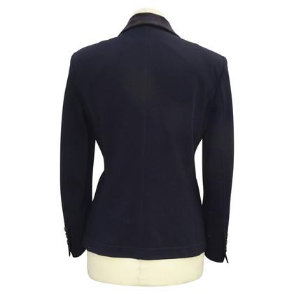 Strenesse Blue Blazer with velvet collar