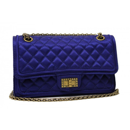 Chanel Flap bag blue satin