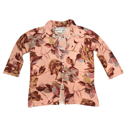Dolce & Gabbana Silk sweater with floral pattern