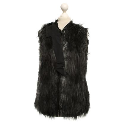 Lanvin for H&M gilet di pelliccia del faux con stampa animalier