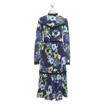 Erdem Silk dress with a floral pattern