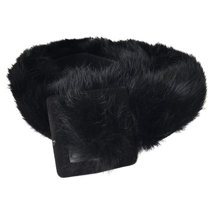 Walter Steiger Belt with fur trim