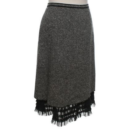 Max & Co Tweed-skirt in black and white
