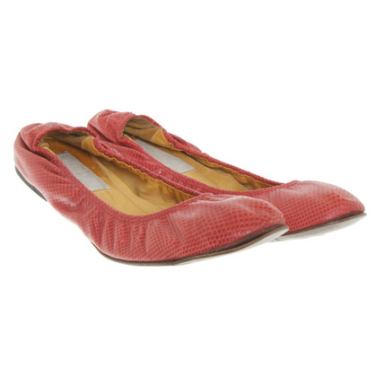 Lanvin Ballerinas in red