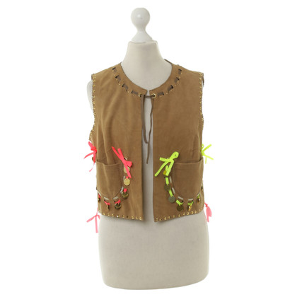 Manoush Gilet in pelle scamosciata