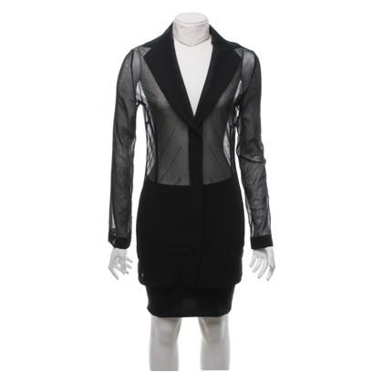 Dolce & Gabbana Giacca trasparente in nero