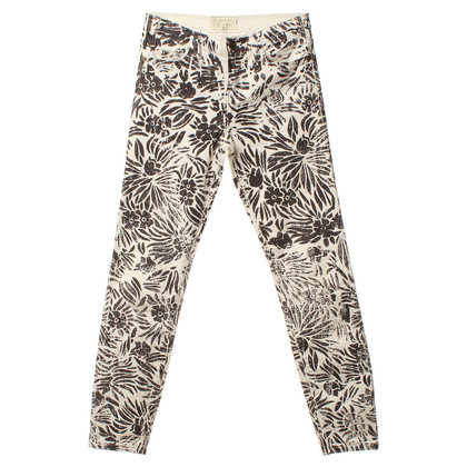 Current Elliott Pants with a floral pattern