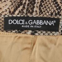 Dolce & Gabbana Gonna con stampa rettile
