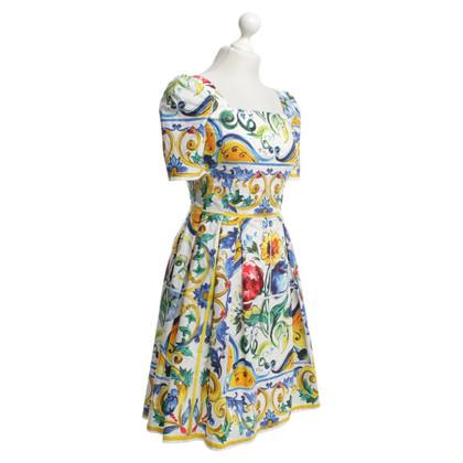 Dolce & Gabbana Jurk met majolica Print