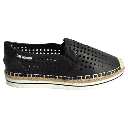 Moschino Love Espadrilles in Schwarz