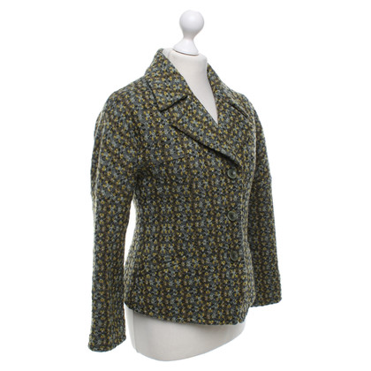 Dries van Noten Patterned wol blazer in groen
