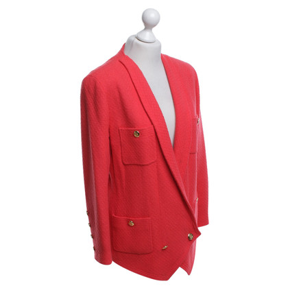 Chanel Bouclé-Blazer in Rot