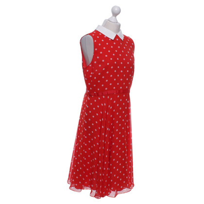 Hobbs Dotted dress in red