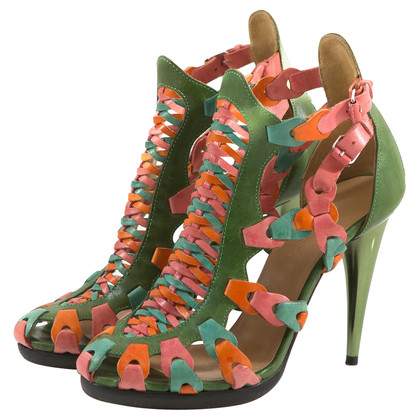Balenciaga multi colored gladiator sandal