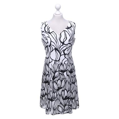 Luisa Cerano Silk dress in black and white