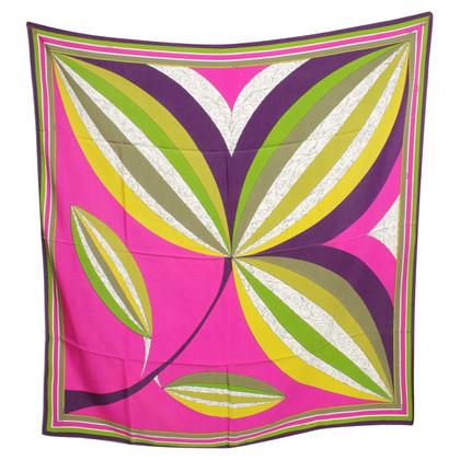 Emilio Pucci Silk scarf with motif print