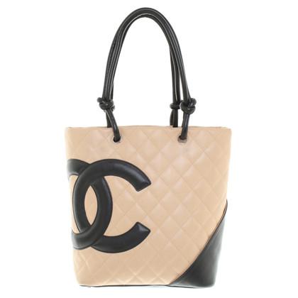 Chanel Handtasche in Beige/Schwarz