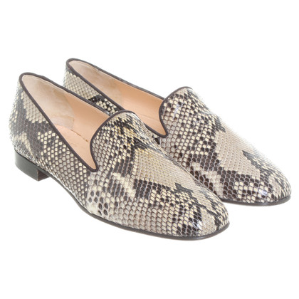 "Christian Louboutin ""Henriette"" Python leather slipper"