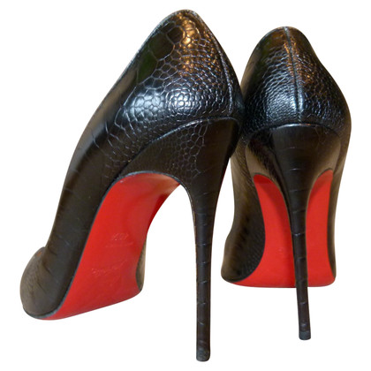 Christian Louboutin pumps ostrich leather