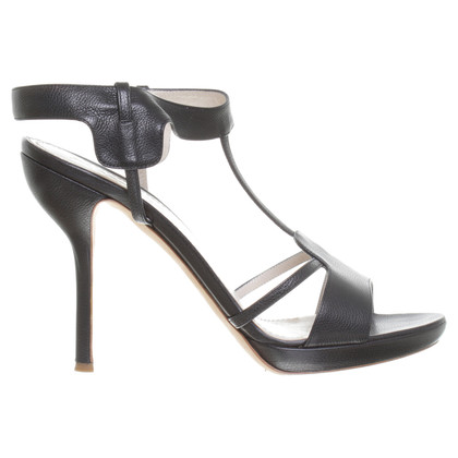 Jil Sander Platform high heel sandal in black