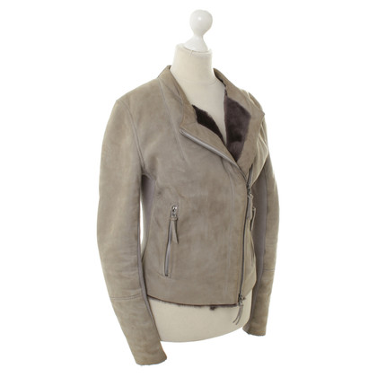 Michalsky Leather jacket in Taupe