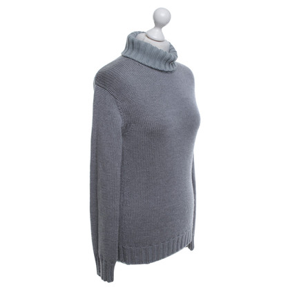 Jil Sander Roll collar sweater in grey
