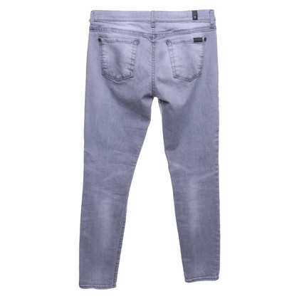 7 For All Mankind Skinny Jeans en gris clair