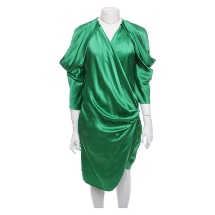 Emanuel Ungaro Silk dress in green