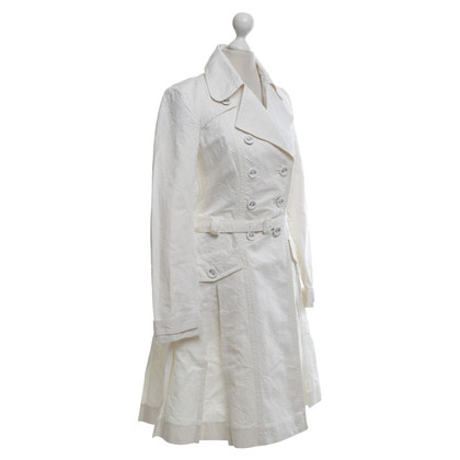 Drykorn Trench coat with a floral pattern