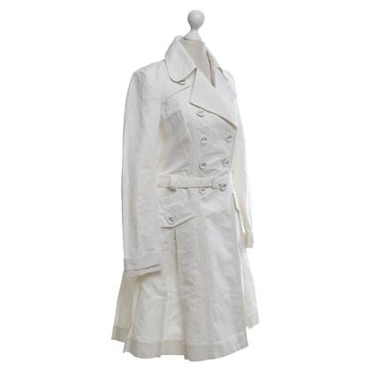 Drykorn Trenchcoat met bloemmotief