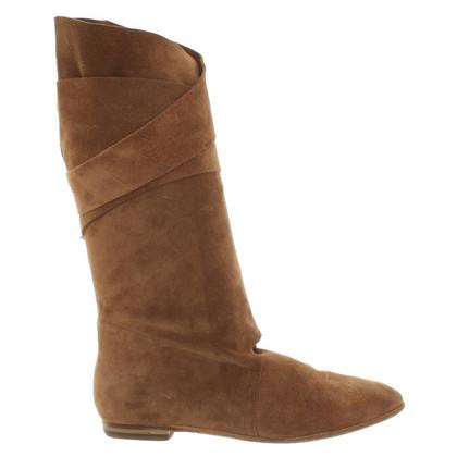 Fred de la Bretoniere Wrap ankle boots from suede