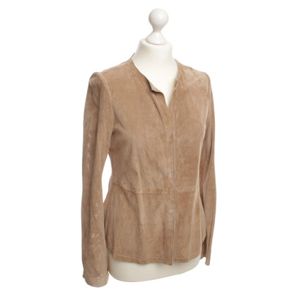 Other Designer Ecru - brown leather jacket