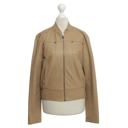 Patrizia Pepe Leather jacket in beige