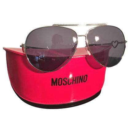 Moschino Pilotenbrille mit Herz Detail