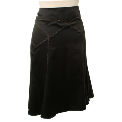 Roberto Cavalli Satin skirt in black
