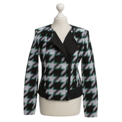 Hugo Boss Blazer in black / white / green