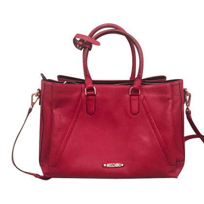 Moschino Ledertasche in Rot