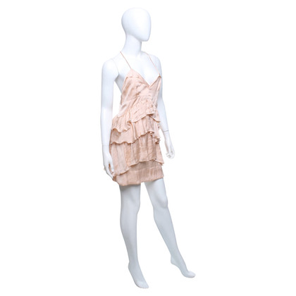 Pinko Naakt gekleurde volant jurk