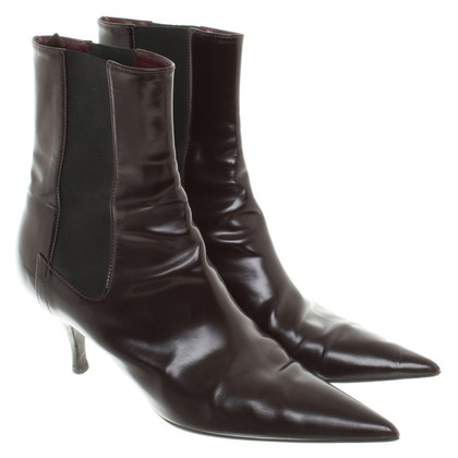 Prada Boots in Bordeaux