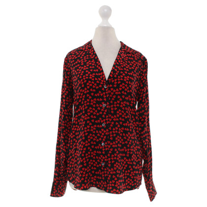 Equipment Blouse in black / red