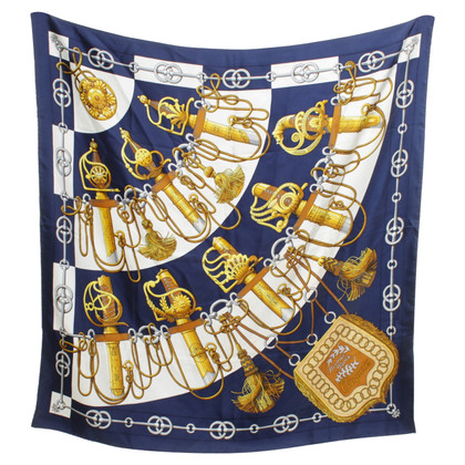 Hermès Silk scarf with motif
