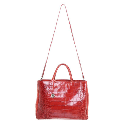 Furla Borsa in look rettile