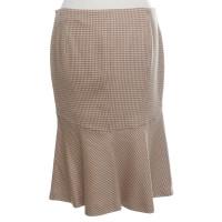 Aigner skirt with pepita pattern