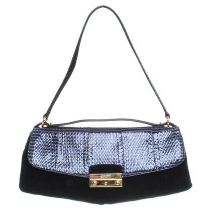 Sebastian Milano  Python and suede handbag