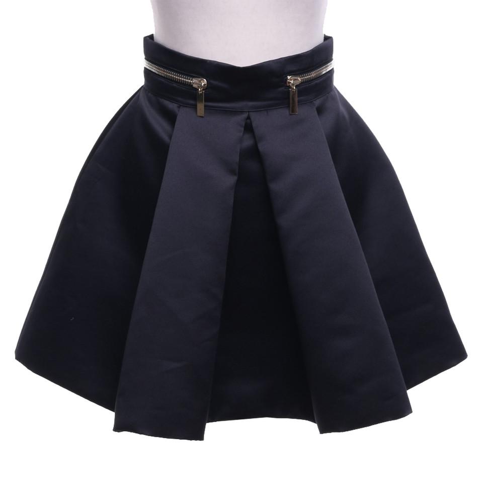 Elisabetta Franchi Jupe plissée en noir